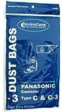 Panasonic Type C-3 vacuum cleaner bags #MC-125PT - Generic -3 pack