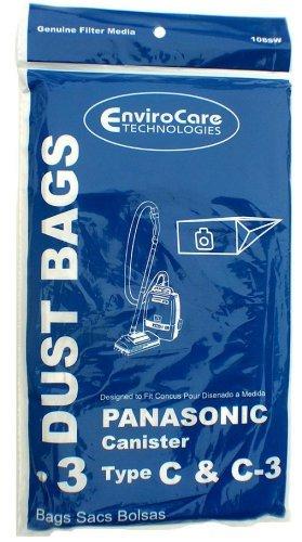 Panasonic Type C-3 vacuum cleaner bags #MC-125PT - Generic -3 pack (Generic Vacuum Bags compare prices)