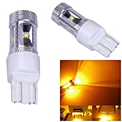 See 10Pcs Amber 30W 7443 T20 CREE XBD R3 LED Car Tail Brake Stop Light Bulb Lamp Details