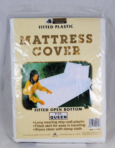 Cheapest Price! Queen Mattress Cover White Fitted Plastic Protector