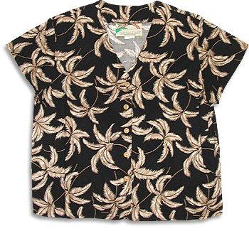 Buy Ladies Hawaiian Typhoon Blouse in Black, Navy Blue or Purple