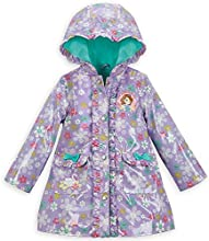 Disney Store Sofia the First Hooded Rain JacketRaincoat Size XS 4 4T