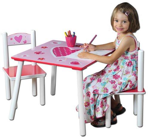 Kesper-17722-1-Kindertisch-mit-2-Sthlen-Motiv-Herzen-MDF-farbig-lackiert-FSC