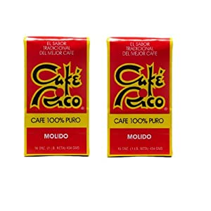 Cafe Rico Ground Coffee 2 Pounds / 2 Bags of 1 Pound Each