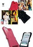 パープル/ANNA SUI アナスイの鏡つき iPhone5 ケースカバー アナスイ anna sui マジックミラ