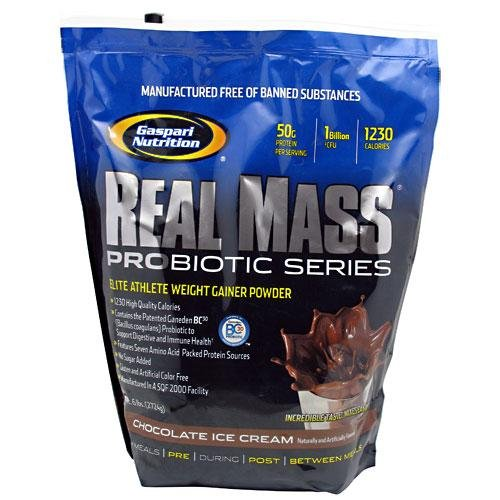 Gaspari Nutrition Gaspari: Real Mass Probiotic, Chocolate, 6 Pounds