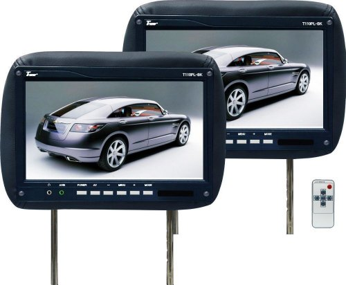 Universal Pair of Tview T110pl-black Headrests with 11.2 Inch Car Monitors