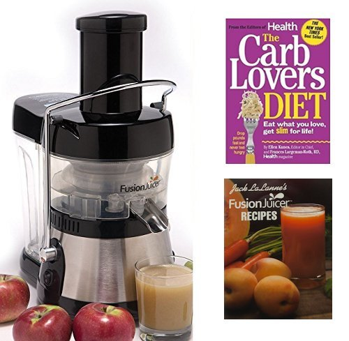 Jack Lalanne Juicer, Stainless Steel Electric Low Heat 3600 RPM Power Juice Extractor + 24 Juice Recipes + The Carb Lovers Diet Book (Crescent Tool For Juicer compare prices)