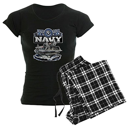 Royal Lion Women's Dark Pajamas US Navy Aircraft Carrier and Jets