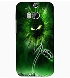 ColourCraft Flaming Eyes Flower Design Back Case Cover for HTC ONE M8
