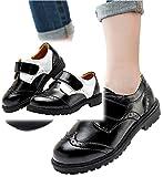 (メリット)mertto 男の子 フォーマル 靴 キッズ シューズ マジックテープ で 履きやすい ローファー 結婚式 七五三 冠婚葬祭 デッキシューズ 黒 エナメル 子供 くつ b032 (17cm, ブラック)