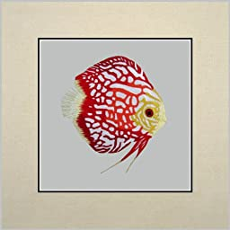 King Silk Art 100% Handmade Embroidery Red Goldfish Chinese Print Unframed Wildlife Fish Painting Gift Oriental Asian Wall Art Décor Artwork Hanging Picture Gallery Picture 32019W