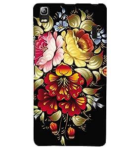 printtech Flower Back Case Cover for Lenovo A7000