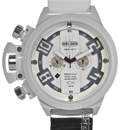 Welder Men's K24 Series White Chronograph Watch - K 24 3311