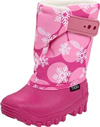 Tundra Teddy Winter Boot (Toddler/Little Kid), Fuschia/Snow Flakes, 8 M US Toddler
