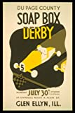 SOAP BOX DERBY GLEN ELLYN ILLINOIS VINTAGE POSTER