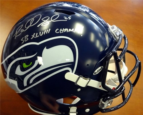 Richard Sherman Autographed/Hand Signed Seattle Seahawks Super Bowl Full Size Speed Authentic Helmet at Amazon.com