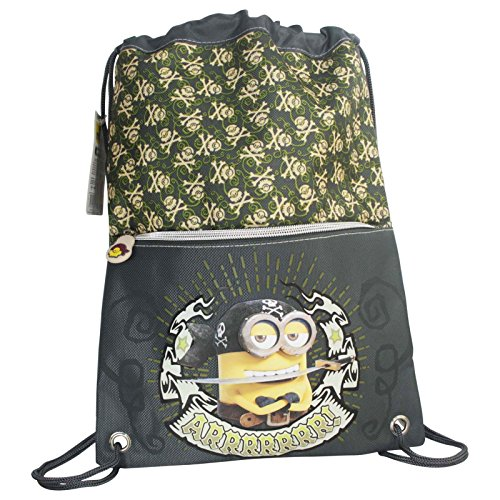 Minions-Pirate-Drawstring-Gym-Backpack-Daypack-Travel-Bag-Slim