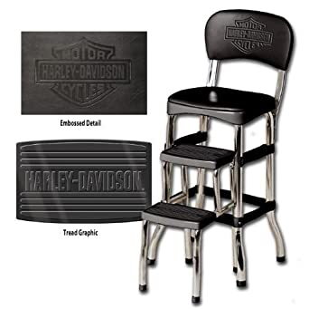 Harley-Davidson Bar & Shield Retro Step Stool. HDL-12207