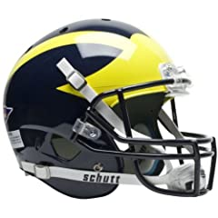 MICHIGAN WOLVERINES Schutt AiR XP Full-Size REPLICA Football Helmet by ON-FIELD
