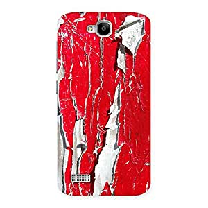 Impressive Red Ripped Paint Print Back Case Cover for Honor Holly