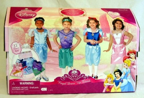Disney Princess Royal Dress Up Trunk (27 piece set)