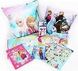 Disney(ディズニー) アナと雪の女王 グッズ 8点 セット バッグ/クッション/フリース/ハンドタオル/巾着/シール/ノート/6Pミニティッシュ まとめて! (1個セット)