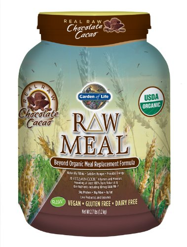 Garden of Life Raw Organic Meal, Chocolate, 2.7