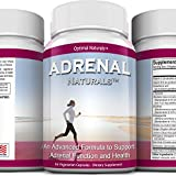 Adrenal Fatigue Support Supplement ,Adrenal Complex Packed w/ Essential Nutrients & Herbs to Support Healthy Adrenal Cortex Function and Response to Stress, Immune System Strength, and Energy Levels,60 capsules