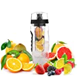 Ivation Infuser Water Bottle with Loc...