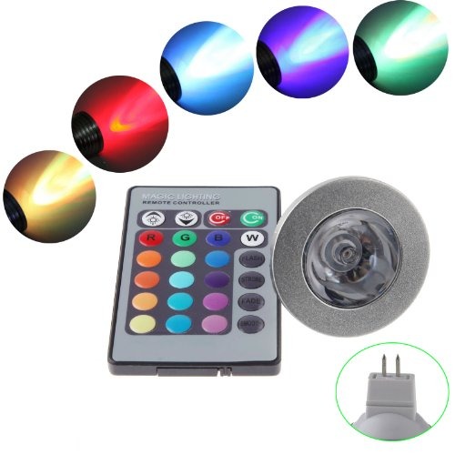 Ronshin Mr16 12V Led Light Bulb And Remote Controller Magic Lighting Downlight 16 Colors 5 Modes Us00009
