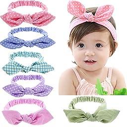 Defitck Baby Girls Headband Newest Turbans Head Wrap Hair Band (ted004)