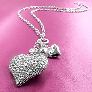 The Saturdays Crystal Heart Necklace