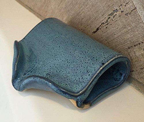 Ceramic Self Draining Soap Dish in Peacock Blue FREE SHIPPING (Self Draining Soap Dish compare prices)