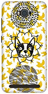 The Racoon Grip Woof with the Birdy hard plastic printed back case / cover for Asus Zenfone Max ZC550KL