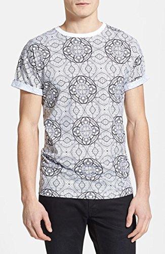 トップマン Topman Stained Glass Print T-Shirt 男性 メンズ Tシャツ 並行輸入