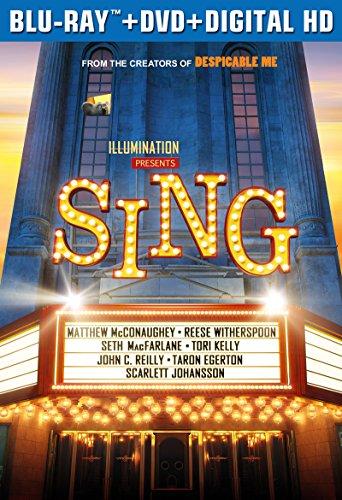 Sing Blu Ray DVD