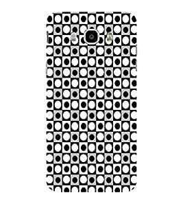 ifasho Modern Theme of black and white dots inside Square Back Case Cover for Samsung Galaxy J7 (2016)