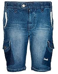 Chlorophile Men's Shorts (Pcs_Cyan Mid Wash_30)