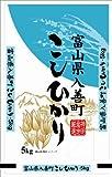 【精米】富山県 入善町産 白米こしひかり 5kg  平成24年産