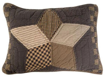 Farmhouse Star Quilted Luxury Sham In Patchwork Star Pattern front-317549