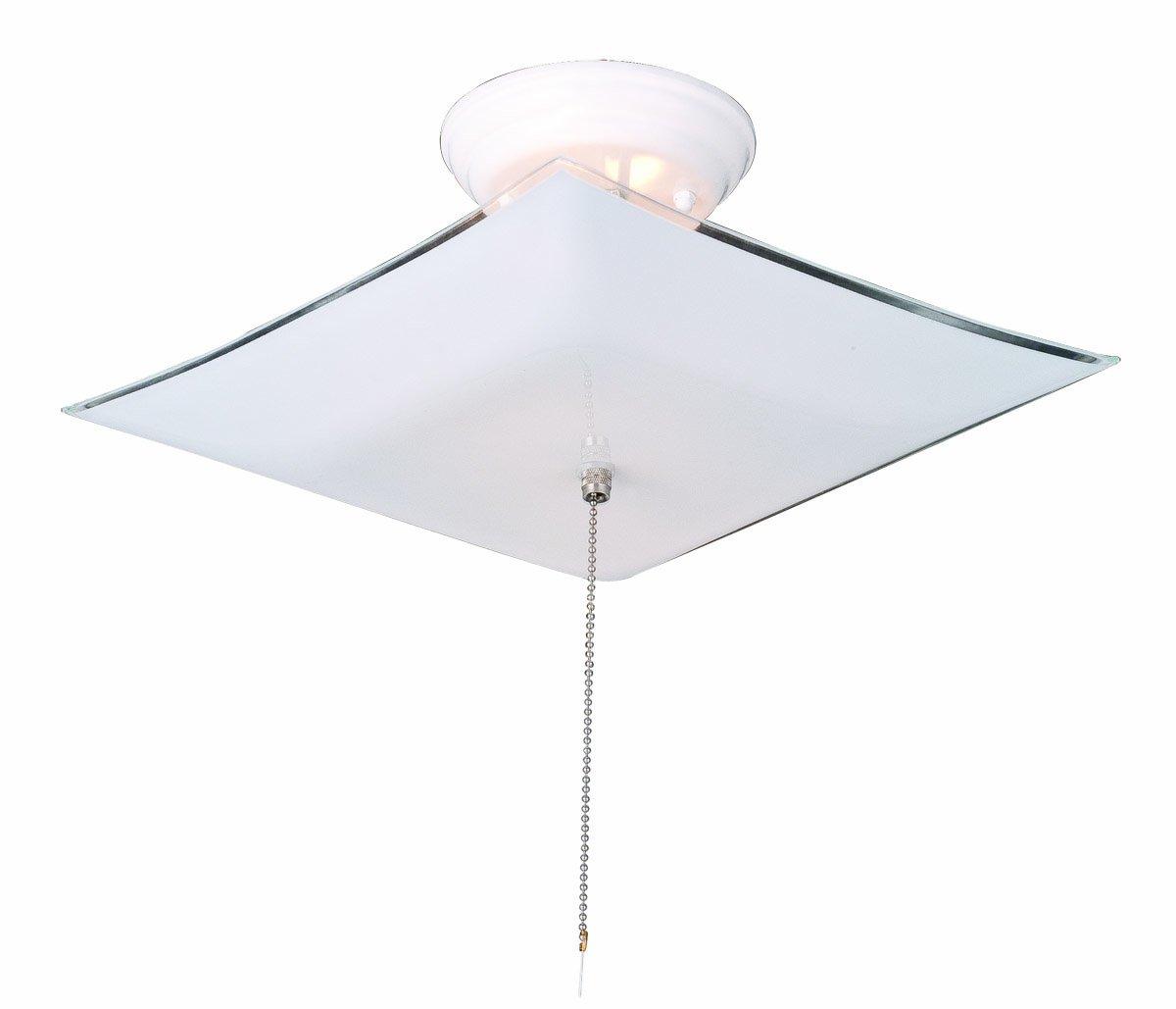 White Ceiling Light Fixture: Design House 517805 2 Light Ceiling Mount Light Fixture