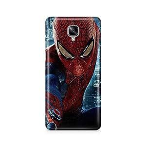 Motivatebox - Oneplus three - 3 Back Cover - Spiderman Adventure Polycarbonate 3D Hard case protective back cover. Premium Quality designer Printed 3D Matte finish hard case back cover.