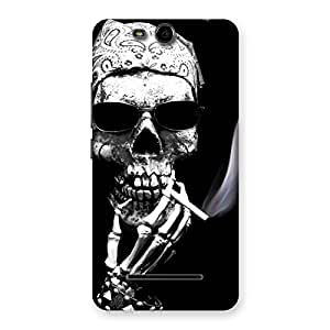 Smoking Skull Back Case Cover for Micromax Canvas Juice 3 Q392