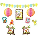 """Amscan Adorable Fisher-Price Baby Shower Party Decorating Kit, 14"""", Brown/Orange/Pink/Blue/White"""