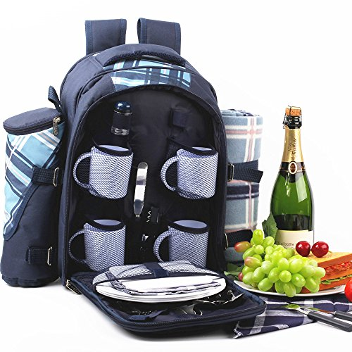 Discover Bargain Apollowalker Picnic Bag Backpack 4 Person for super parent outdoor Cutlery Set (B-B...