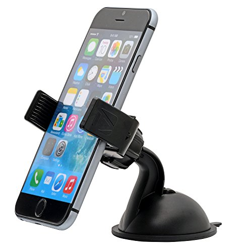 Aduro U-GRIP PLUS Universal Dashboard Windshield Car Mount for Smartphones, Apple iPhone 6 / 6 Plus / 5 / 5S / 5C / 4 / 4S / 3G, Samsung Galaxy S2 / S3 / S4 / S5 / S6, Galaxy NOTE 2 / 3 / 4, Motorola Droid RAZR / MAXX, HTC ONE / M8 / M9 / X, LG Revolution / Flex / G3 / G2, GPS Holder (Black) (Samsung S4 Car Windshield Mount compare prices)