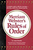 Merriam-Webster's Rules of Order (0877796157) by Rozakis, Laurie