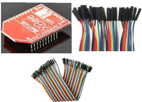 Hc-06 Bluetooth Bee V2.0 Slave Module For Compatible Xbee For Arduino Android+40Pcs Dupont Wire Jumper Cables 20Cm 2.54Mm Male To Female 1P-1P For Arduino+New 40Pcs Dupont Wire Cable 1P-1P Pin Connector 2.54Mm 20Cm For Arduino