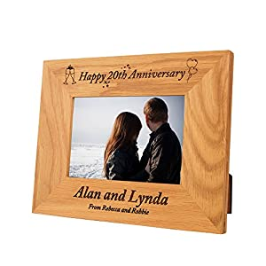 20th Wedding Anniversary Gift Ideas Uk : Personalised 20th wedding anniversary gift idea, Special 20th wedding ...